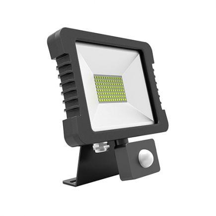 Yonna - LED Projektor-Leuchte IP 65 118x167.5x27.5 10W 3000K 720lm 110° schwarz PIR